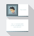 Modern business card template in blue color vector image