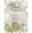 New Year poster Abstract holiday Christmas golden vector image vector image
