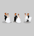 newlywed couple collection vector image vector image