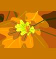 oak leaf - autumn background vector image