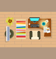 office room interior decor vector image vector image