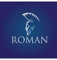 Old Vintage Antiques Roman warrior design template vector image vector image