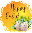 orange easter banner with eggs vector image vector image