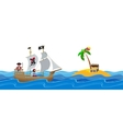 Pirate treasure hunt flat vector image vector image