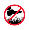 please stay off lawn prohibited keep off vector image vector image