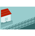 private house in country vector image vector image