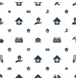 property icons pattern seamless white background vector image vector image