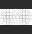 puzzles pieces 10x5 jigsaws grid puzzle shape vector image vector image