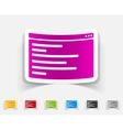 realistic design element browser window vector image