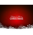 red merry christmas background with snowflakes vector image vector image
