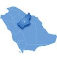 Saudi Arabia the region Al Qasim vector image