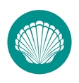 Scallop sea shell vector image vector image