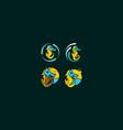 seahorse mask icon logo vector image vector image