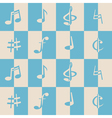 seamless background with musical notes vector image vector image