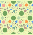 seamless pattern with geometric shapes and lines vector image