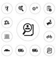 set of 12 editable complicated icons includes vector image vector image