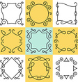 set of outline borders and frames abstract vector image vector image