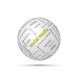 Social media globe vector image