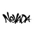 sprayed washington font graffiti with overspray in vector image vector image
