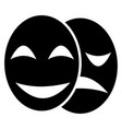 theatre masks drama and comedy vector image