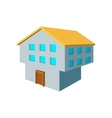 Two-storey house cartoon icon vector image