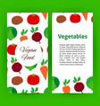 vegan food flyer vector image