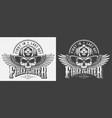 vintage fireman monochrome prints vector image vector image