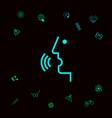 voice control person talking - icon graphic vector image vector image