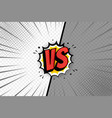 vs two frame template versus pop art design on vector image vector image