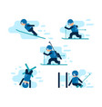winter games skiing vector image