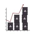 barrel productivity increase arrow design isolated vector image