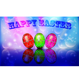 card with golden eggs vector image