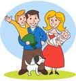 Cute Cartoon Family vector image