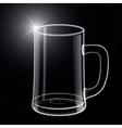 Empty beer glass vector image