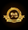 90 years anniversary celebration logotype vector image vector image