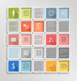 Abstract squares colorful info graphic template vector image
