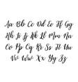 alphabet font handwritten for text vector image