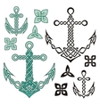 anchor celtic vector image vector image