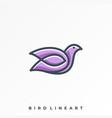 bird line template vector image vector image