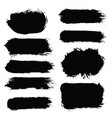 brush strokes set painted isolated objects vector image vector image