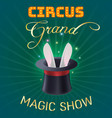 circus poster magic show vector image vector image