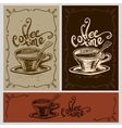 Coffee time cup vector image