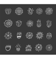collection hand drawn mandalas symbols vector image