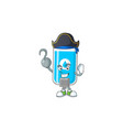 cool pirate wall hand sanitizer with one hook hand vector image vector image