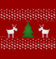 cristmas funny deer and cristmas tree red vector image