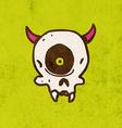 Cyclops Skull Cartoon vector image