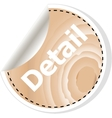 detail word on business wooden app icon vector image