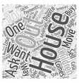 find out about keeping the house Word Cloud vector image vector image