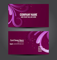 floral design business card vector image vector image
