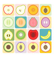 fruits and vegetables icons set 1 vector image vector image